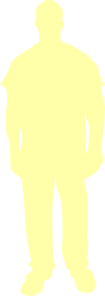 Person Outline Yellow Clip Art