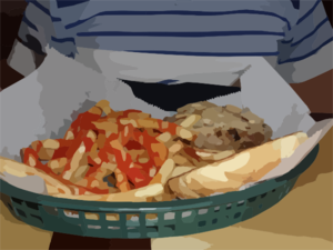 Fries And Steak Sandwich Clip Art