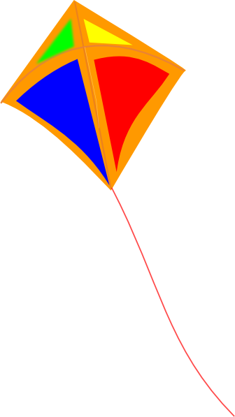 clipart kite flying - photo #15
