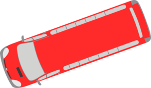 Red Bus - 200 Clip Art