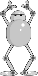 Robot Hands Up Clip Art