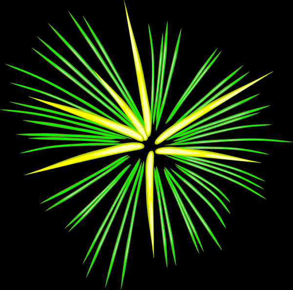 Green Fireworks Clip Art at Clker.com - vector clip art ...
