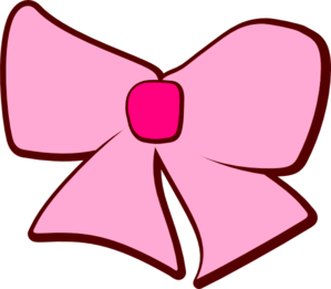 Pink Brown Bow Clip Art