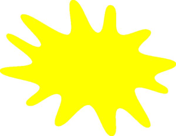 Yellow paint splat