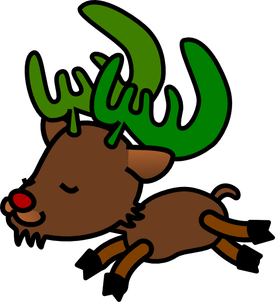 Christmas reindeer clipart - photo#27