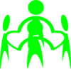 Green Holding People Clip Art