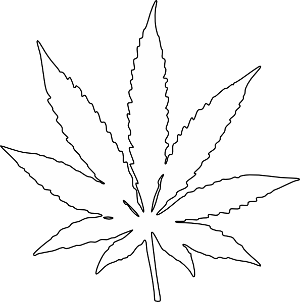 weed leaf template potleaf free coloring pages