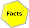 Hexagon Gris Facts Clip Art