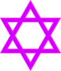 Jewish Stair Purple Clip Art
