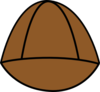 Plain Brown Hat Clip Art