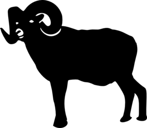ram silhouette clip art at clker com vector clip art online rh clker com Ram Clip Art Mascot Ram Head