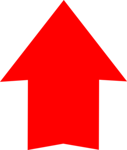 Plain Red Arrow Up Clip Art