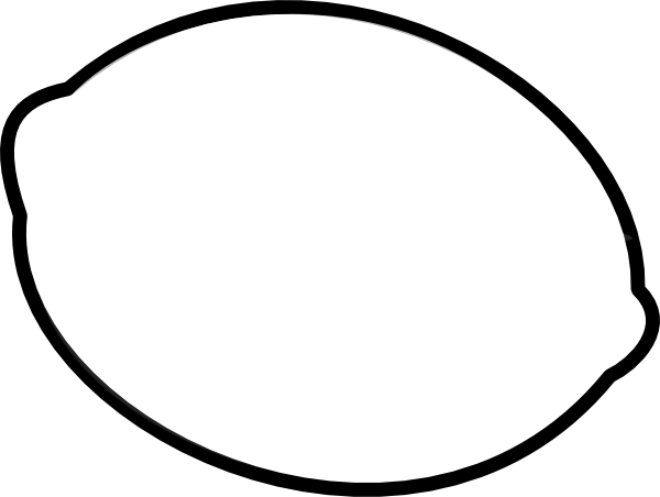 lemon outline clip art at clkercom vector clip art