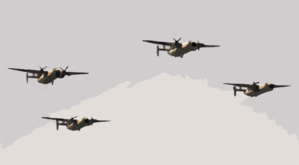 Four C-2a  Greyhounds,  Assigned To The  Providers  Of Fleet Logistic Support Squadron Thirty (vrc-30), Flyover Uss John C. Stennis (cvn-74) Clip Art