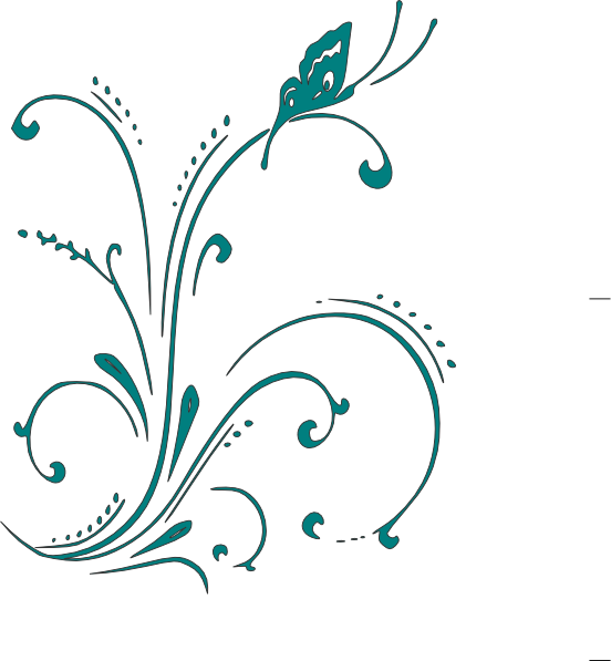 Purple Butterfly Scroll Clip Art At Clker Com: Teal Butterfly Scroll Clip Art At Clker.com