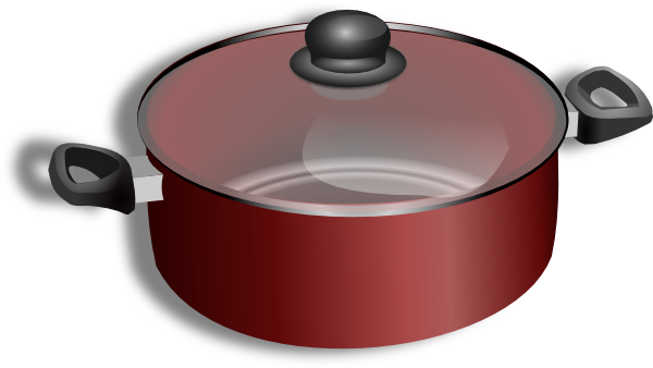 Cooking pot clip art at vector clip art online for Art cuisine cookware