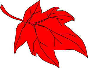 Red Leaf Autumn Clip Art at Clker.com - vector clip art ...