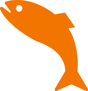Orange Jumping Fish Clip Art