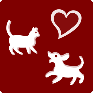 Hotel Icon Pets Welcome Clip Art - Red/white Clip Art