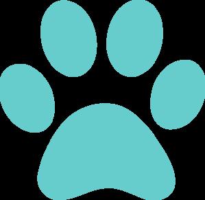 aqua paw print clip art at clker com vector clip art Dog Paw Print Clip Art White Paw Print Clip Art