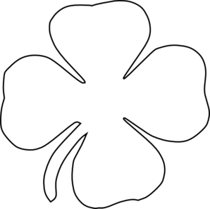 clover black and white clipart