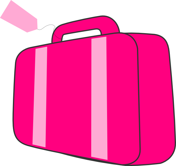 pink suitcase clip art at clker com vector clip art suitcase clip art etsy suitcase clip art take it or trade it
