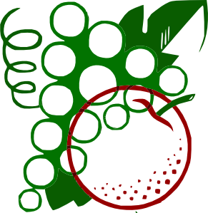 Organge Grapes Cartoon Clip Art