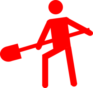 Red Person Worker Symbol Clip Art