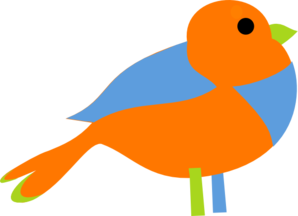 Colorful Little Bird  Clip Art
