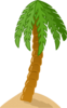 Island Palm Tree Clip Art
