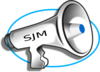 Megaphone With Initials Clip Art