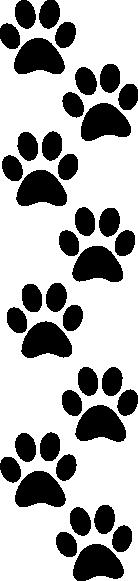 Paw Print Clip Art - Royalty Free - GoGraph