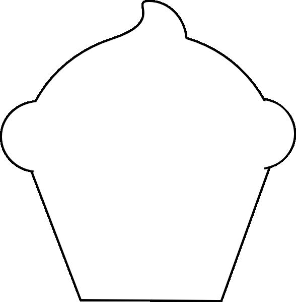 cupcake clip art at clker com vector clip art online cupcake clipart outline cupcake outline clipart free