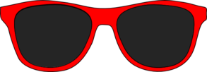 Red And Black Sunglasses Clip Art