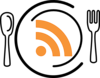 Rss Feed Icon Plate Clip Art