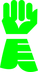 Green Gauntlet Clip Art