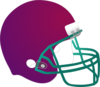 Burgundy Football Helmet  Clip Art