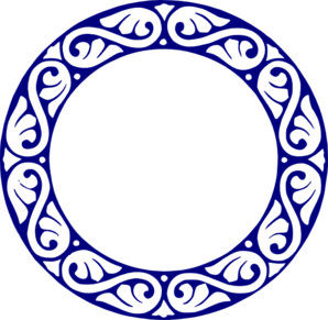 Scroll Circle Blue Clip Art