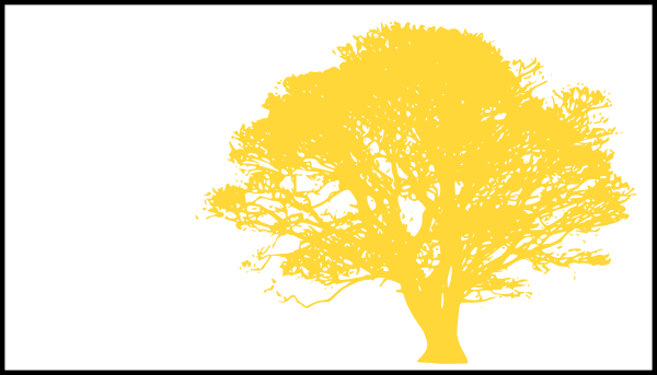 Tree, Yellow Silhouette, White Background Clip Art at ...