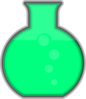 Light Green Flask Lab Clip Art