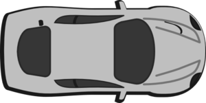 Gray Car - Top View - 0 Clip Art