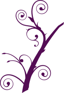 Purple Branch Clip Art
