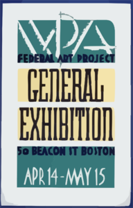 Wpa Federal Art Project General Exhibition Clip Art
