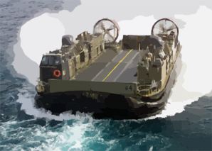Hopper 36 From Assault Craft Unit Four (acu-4) Makes Its Approach To The Well Deck Of The Uss Kearsarge (lhd 3) During Landing Craft Air Cushion (lcac) Operations In The Arabian Gulf. Clip Art