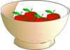 Bowl 4 Apples Clip Art