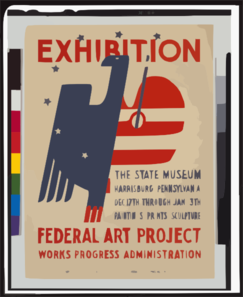 Exhibition The State Museum, Harrisburg, Pennsylvania : Paintings, Prints, Sculpture. Clip Art