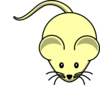 Yellow Mouse Faint Clip Art
