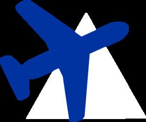 blue plane clip art at clkercom vector clip art online
