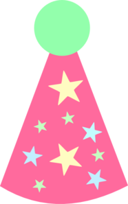 Pink Star Party Hat Clip Art