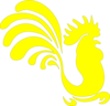 Yellow Rooster Clip Art